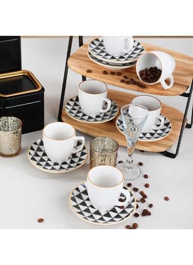 Keramika Keramika Trigon Kahve Takımı 12 Parça 6 Kişilik - 18765 Renkli